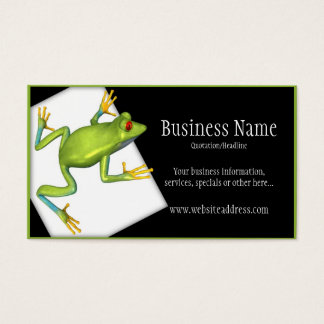 Tree Frog on a Platform Business Cards