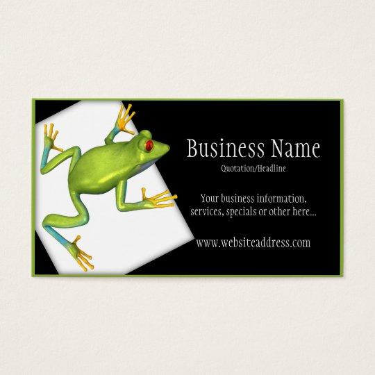 Tree Frog on a Platform Business Cards