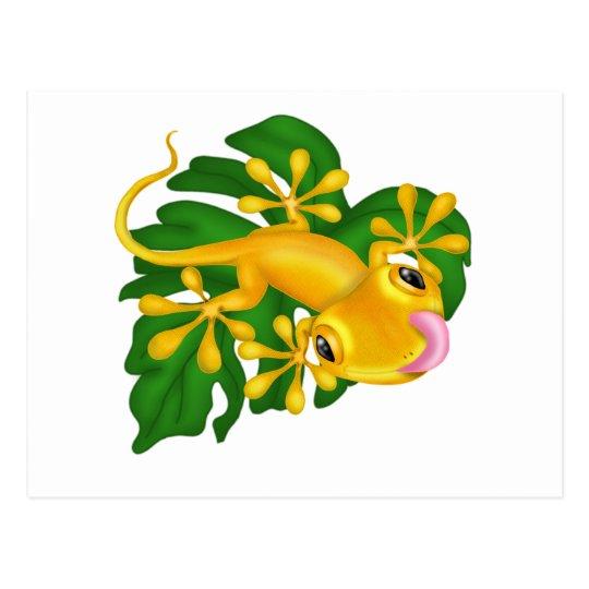 Tree Frog On Leaf Postcard