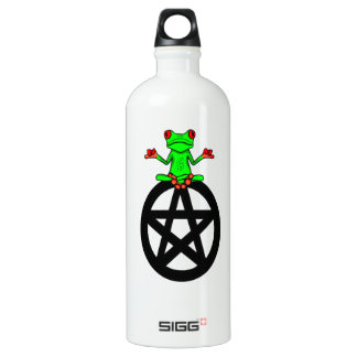 Tree Frog On Pentacle Water Bottle