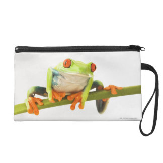Tree frog on stem wristlet purse