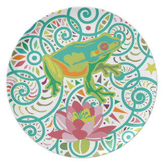 Tree Frog Party Plate