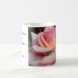 Tree Frog Pink Rose Shakespeare Quote Mug 1
