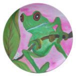 Tree Frog plate from art