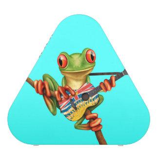 Tree Frog Playing British Columbian Guitar Blue Speaker