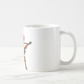 Tree Frog Playing Colombian Flag Guitar White Coffee Mug