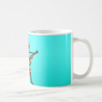Tree Frog Playing Irish Flag Guitar Blue Coffee Mug