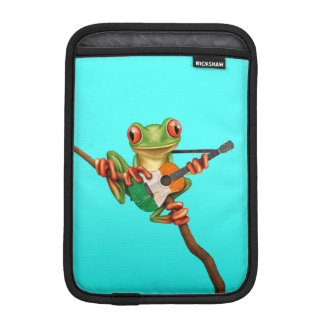 Tree Frog Playing Irish Flag Guitar Blue Sleeve For iPad Mini