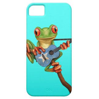 Tree Frog Playing Somalian Flag Guitar Blue iPhone SE/5/5s Case