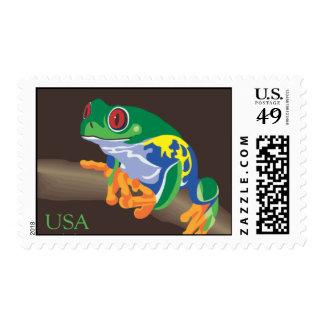 Tree Frog Stamp