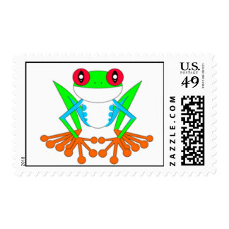 Tree frog postage stamp