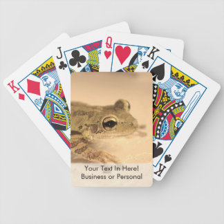 tree frog sepia looking right animal image bicycle playing cards