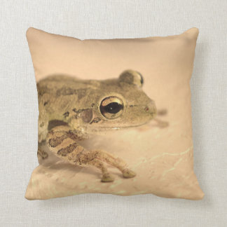 tree frog sepia looking right animal image throw pillow