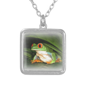 Tree Frog Silver Plated Necklace