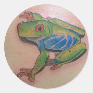 Tree Frog Tattoo Stickers