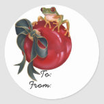 """Tree Frog """"To/From"""" Sticker"""