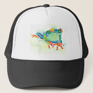 Tree Frog Whimsical Green Trucker Hat