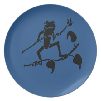 Tree Frog With A Blue Background Party Plates