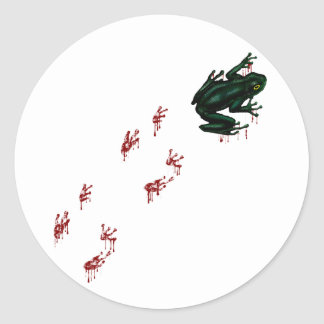 Tree Frog with Bloody Tracks Classic Round Sticker
