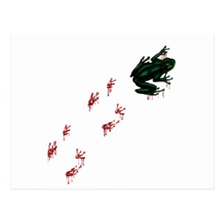 Tree Frog with Bloody Tracks Post Card