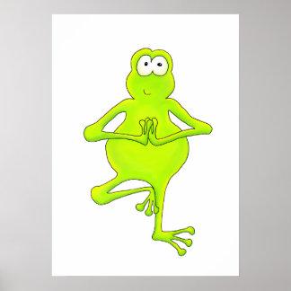Tree Frog Yoga Tree Pose Art Print