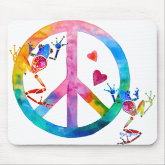 Tree Frogs 4 Peace Mouse Pad