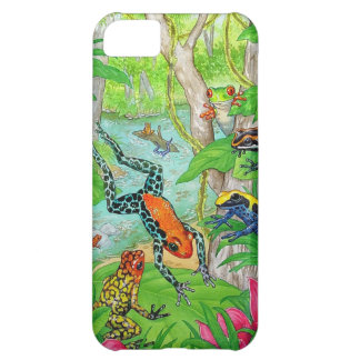 Tree Frogs Frolic Cover For iPhone 5C
