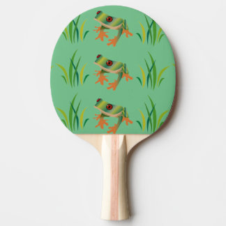 Tree Frogs on Ping Pong Paddles