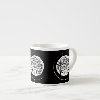 Tree from the Porthole - Black and White Espresso Cup