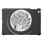 Tree from the Porthole - Black and White iPad Mini Cover