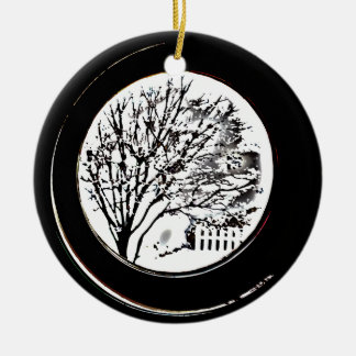 Tree from the Porthole - Black and White Christmas Tree Ornaments