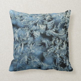 Tree Frost Nature Abstract Photographic Art Throw Pillow