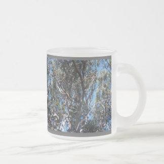 Tree Frosted Glass Coffee Mug