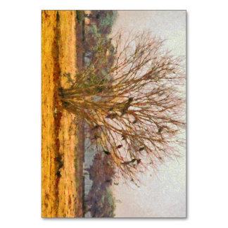 Tree full of large birds card
