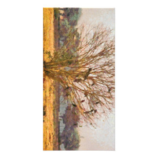 Tree full of large birds card