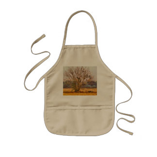 Tree full of large birds kids' apron