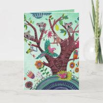 Tree full of life Kids Koala Art | Birthday Card