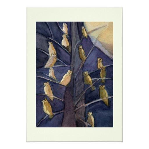 Tree Full of Owls Invitation