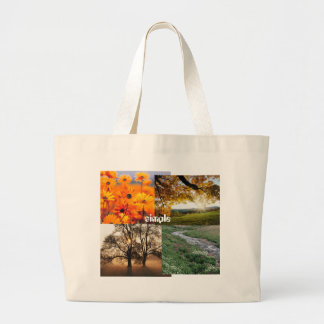 Tree, Garden, Creek, Autumn Leaves, simple Jumbo Tote Bag