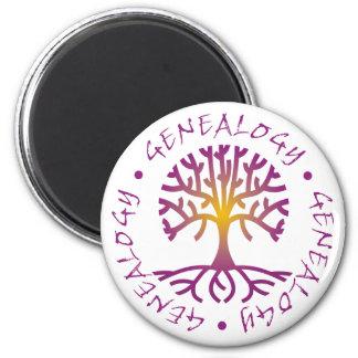 Tree Genealogy 2 Inch Round Magnet