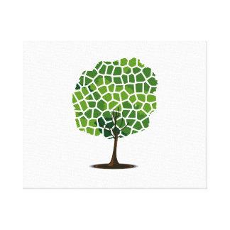 Tree giraffe green pattern eco design.png canvas print