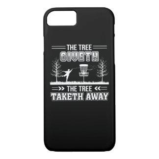 Tree Giveth Tree Taketh Away Disc Golf iPhone 8/7 Case