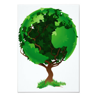 Tree Globe Invitations