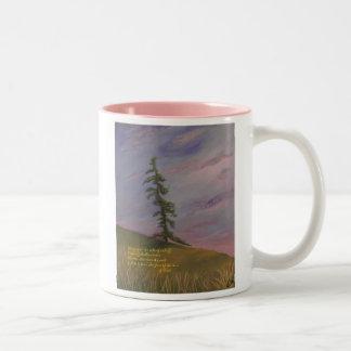 Tree Glow Two-Tone Coffee Mug