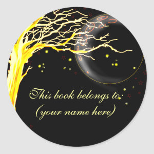 Tree, glowing with fireflies sticker