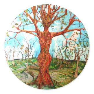 Tree Goddess sticker