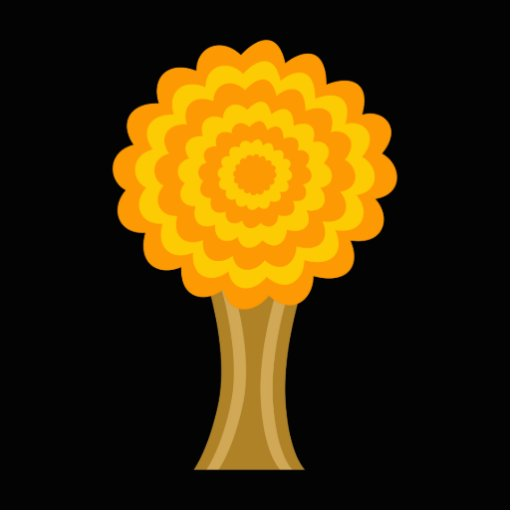 Tree. Golden Autumn colors. Funky Design. Cut Outs