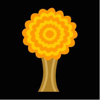 Tree. Golden Autumn colors. Funky Design. Cutout