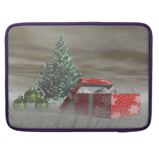tree green and gifts and balls sleeve for MacBook pro