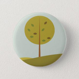 Tree green original edition pinback button